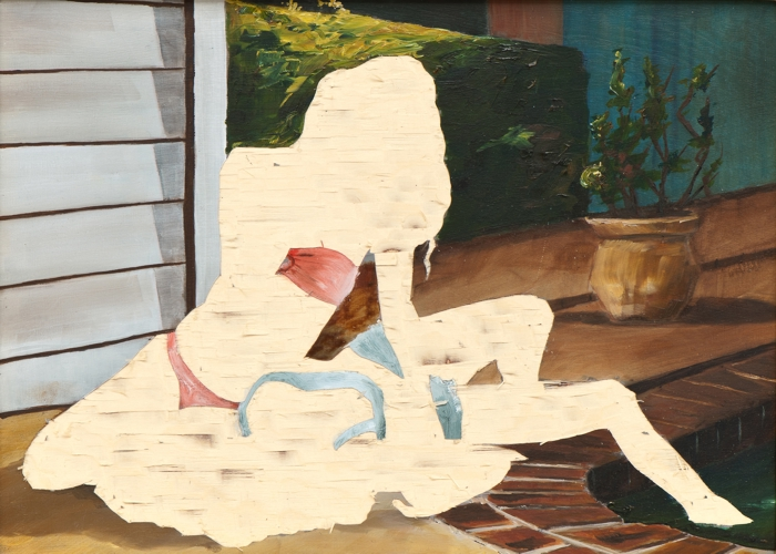 ohne Titel II/15, Öl und Flachstich auf Schichtholzplatte, 30 x 42 cm, 2015